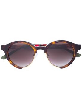 Orlebar Brown x Linda farrow round frame tortoiseshell sunglasses