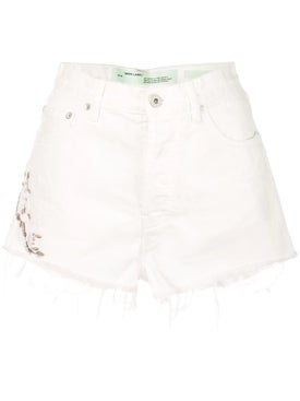 Off-white - Cropped Denim Shorts - Women