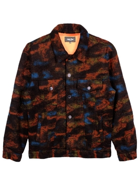 Multicolored wool-blend jacket