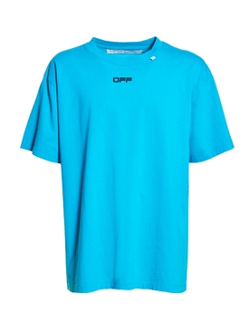 Wavy logo t-shirt BLUE