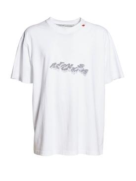 3d pencil short sleeve t-shirt WHITE