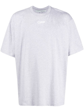 Over-sized Airport Tape T-shirt GREY MELANGE
