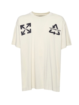 Off-white - Recycle Logo T-shirt Sand/black - Men