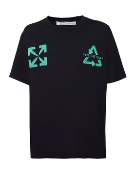 Off-white - Recycle Logo T-shirt Black/mint - Men