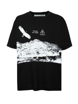 Eagle Landscape T-Shirt BLACK/WHITE