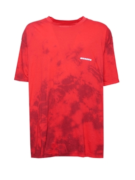 Tie-Dye Crewneck T-shirt RED