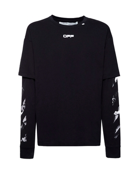 Caravaggio double sleeve t-shirt BLACK