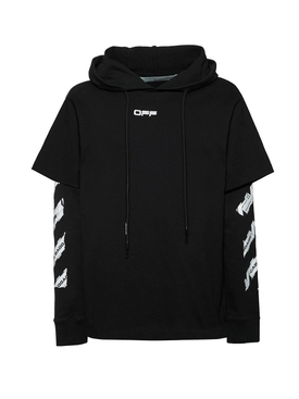 Airport Tape Hooded Sweatshirt BLACK