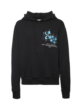 Fence Arrow Logo Hoodie BLACK/BLUE