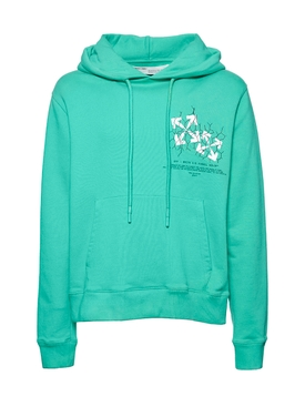 Fence Arrow Logo Hoodie MINT/WHITE