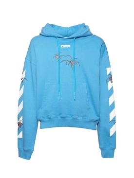 Spider Print Logo Hoodie BLUE