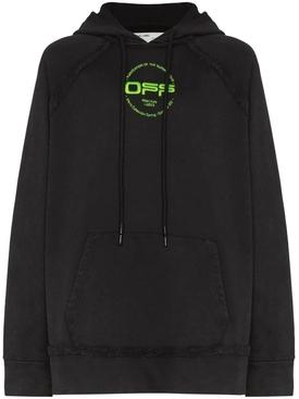 Hand logo hoodie BLACK