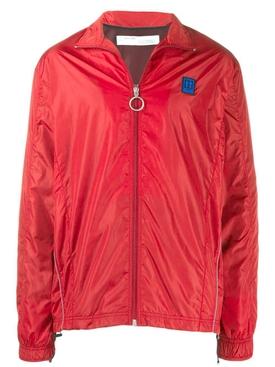 arrow stripe shell jacket RED