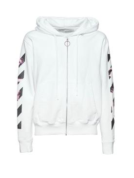 Zipped Airport tape hoodie white
