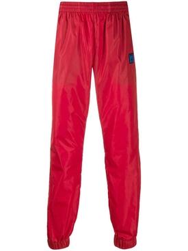 logo trim track trousers