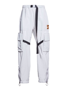 nylon parachute pant LIGHT GREY