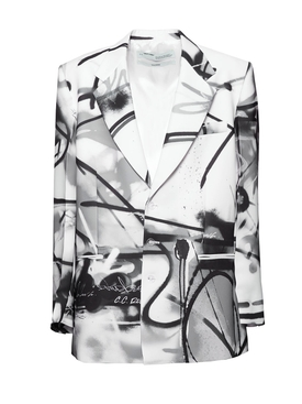 Futura Spray Print Blazer BLACK/WHITE