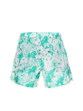 Floral Arrow Logo Swim Trunks GREEN