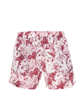 Floral Arrow Logo Swim Trunks RED