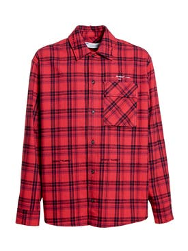 Off-white - Flannel Check Shirt Red - Men