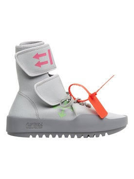 Off-white - Grey Moto Wrap Sneaker - High Tops
