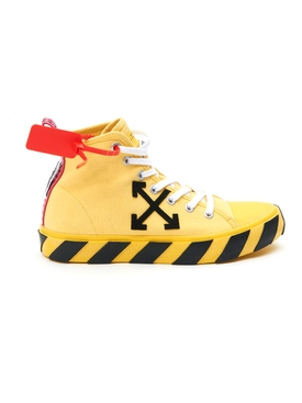 Off-white - Mid-top Arrow Logo Sneakers Yellow/black - Men