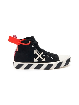 Mid-top arrow logo sneakers BLACK/WHITE