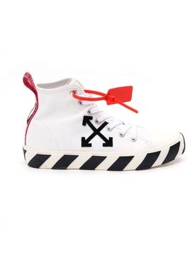 Mid-top arrow logo sneakers WHITE BLACK