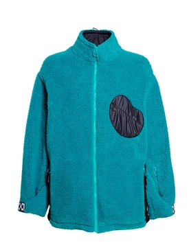 EQUIPMENT FLEECE JACKET PETROL BLUE