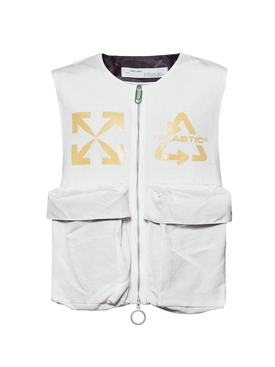 Recycle logo vest OFF-WHITE