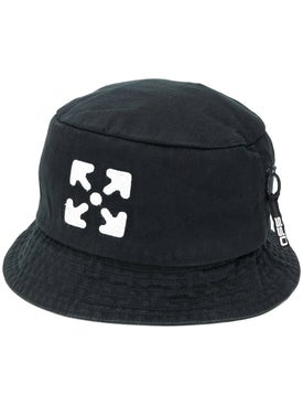 Off-white - Black And White Arrows Bucket Hat - Men