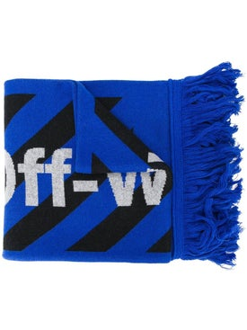Off-white - Black And Blue Arrow Scarf - Men