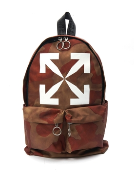 Brown Camouflage Print Backpack