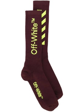 Off-white - Logo Stripe Socks Red - Men