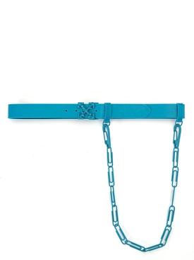 Tonal paperclip chain belt BLUE