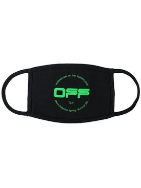 Off-white - Neon Green And Black Logo Mask - Men