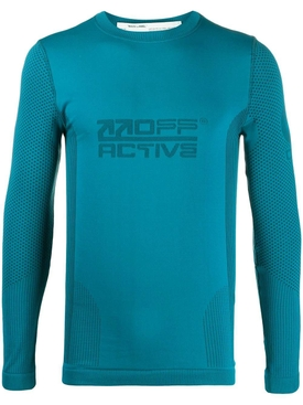 Seamless running top PETROL BLUE