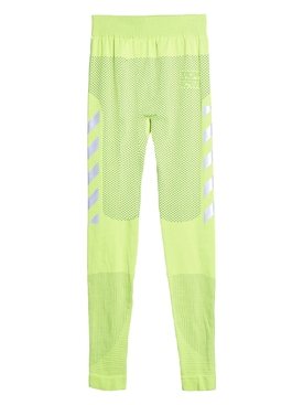 Off-white - Seamless Running Tights Fluorescent Yellow - Men