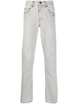 Light grey slim-fit jeans