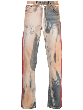 two-tone denim jeans BLEACH