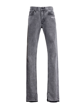 Grey SLIM SPLIT JEANS