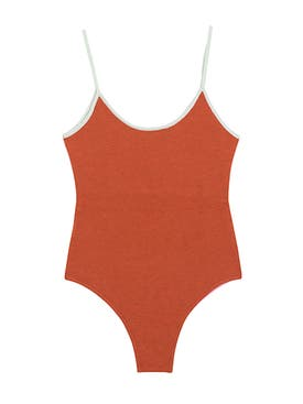 Valentine Witmeur - Opportunist Double-sided Bodysuit, Pink And Orange Multicolor - Clothing