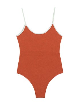 Valentine Witmeur - Opportunist Double-sided Bodysuit, Pink And Orange - Clothing