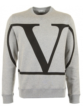 V Logo sweatshirt GREY