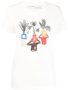 Off-white - 'de Graft Potheads' T-shirt - T-shirts