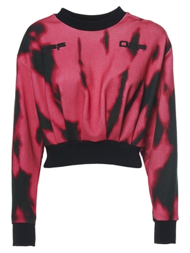 TIGER DYE CROP SWEATSHIRT