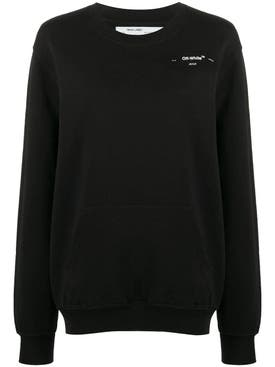 Off-white - Black And White Coral Logo Sweatshirt - Women