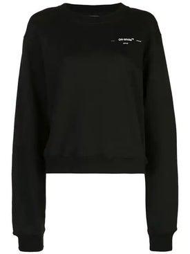 Off-white - Cropped Logo Sweatshirt - Women