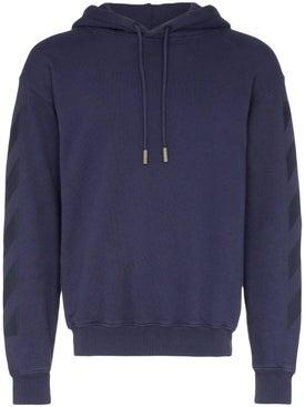 Off-white - Tonal Logo Print Hoodie Navy - Sweatshirts