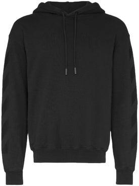 Off-white - Tonal Logo Print Hoodie Black - Sweatshirts